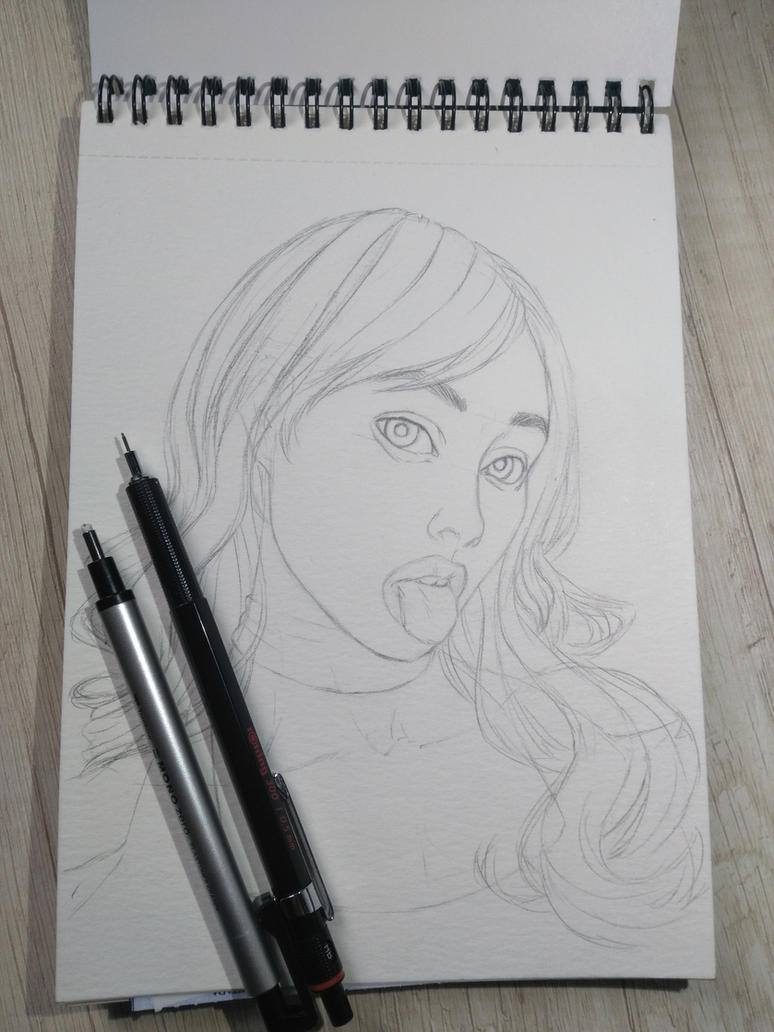 Sketch, ready for watercolors by cretaceo