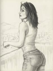 Graphite sketch by cretaceo