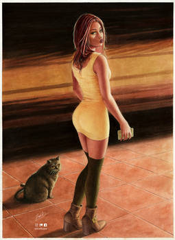 She and the cat