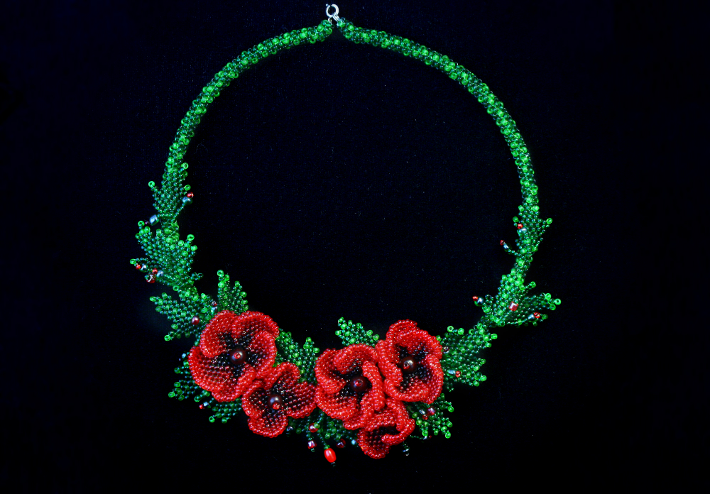 Poppy necklace by DeathMystery