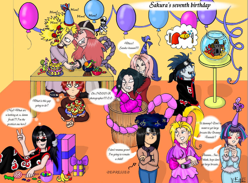 Naruto Birthday Party By DeathMystery