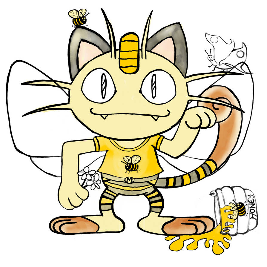 Meowth (bumble bee) wip