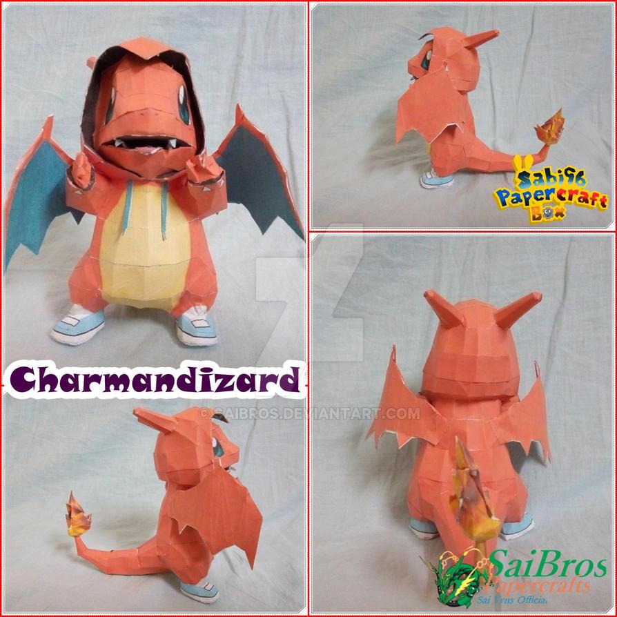Pokemon Papercraft~Charmandizard~ by saibros