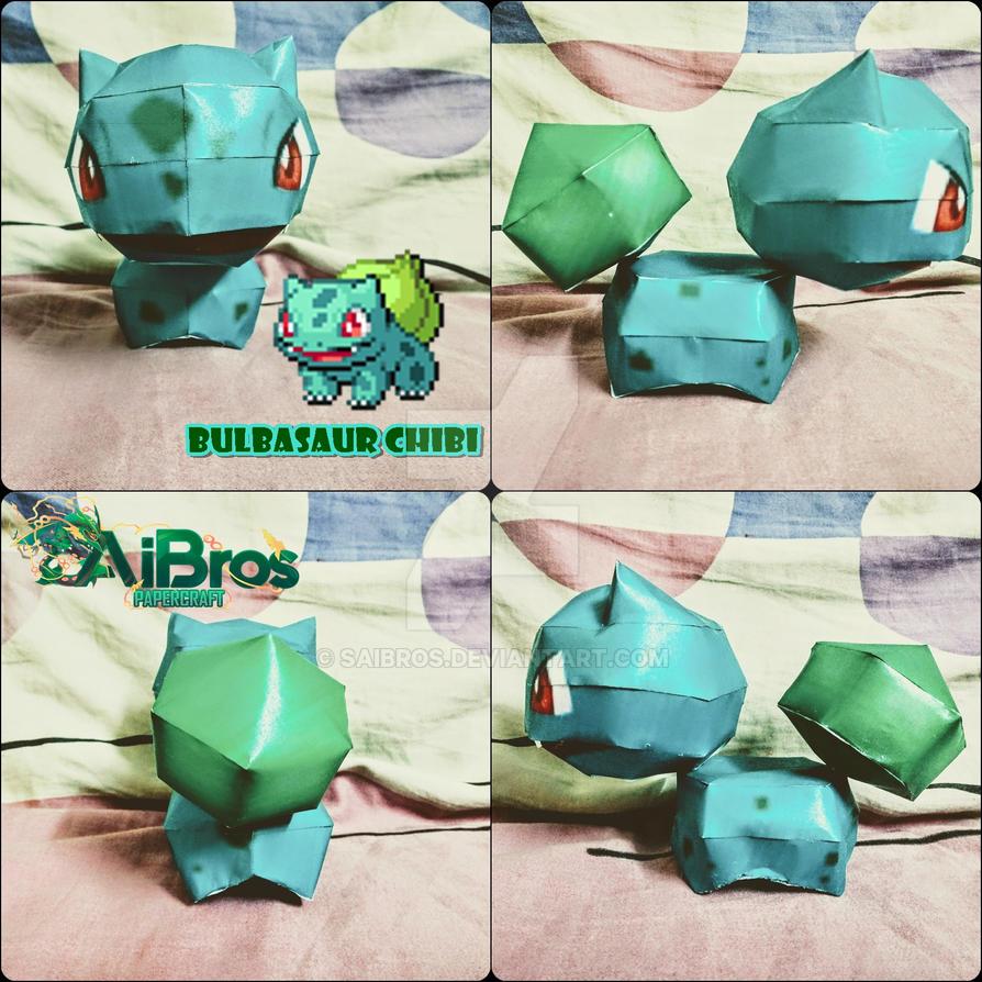 Pokemon PapercraftChibi Bulbasaur By Saibros