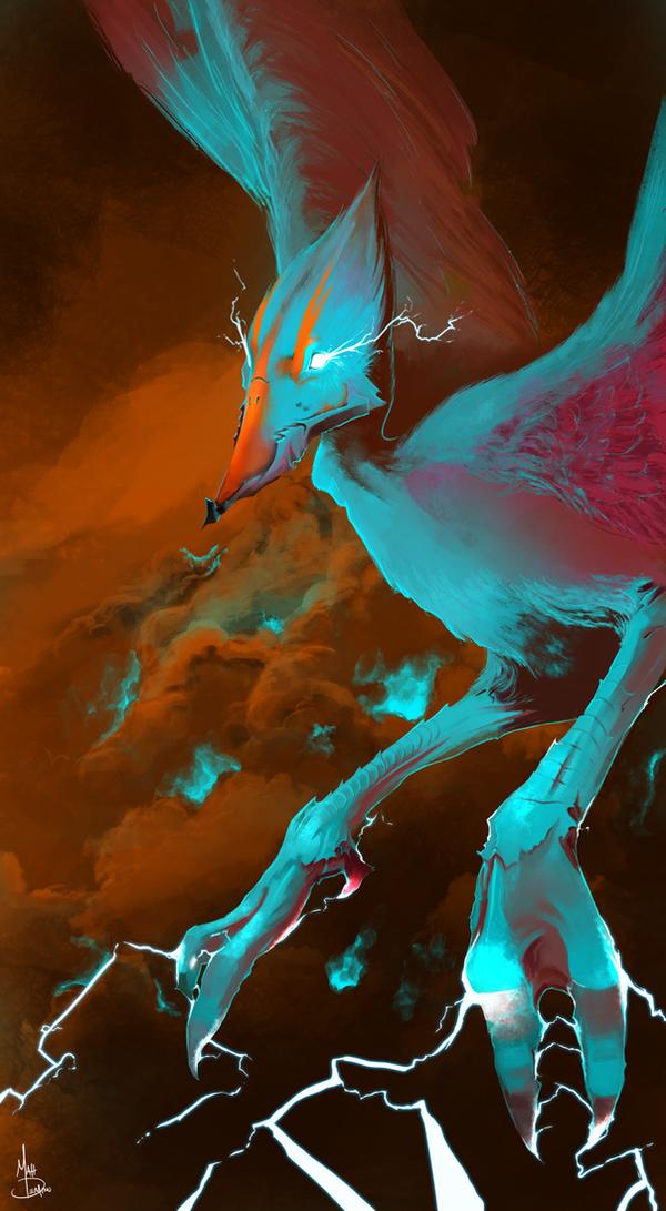 Lightning Bird by MattDeMino on DeviantArt