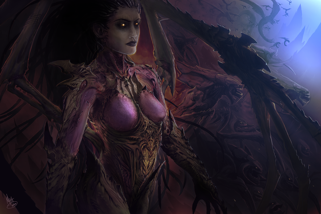 Sarah Kerrigan - The Queen of Blades by MattDeMino