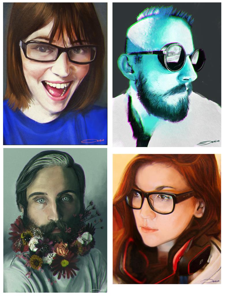 Reddit Gets Drawn portraits by MattDeMino