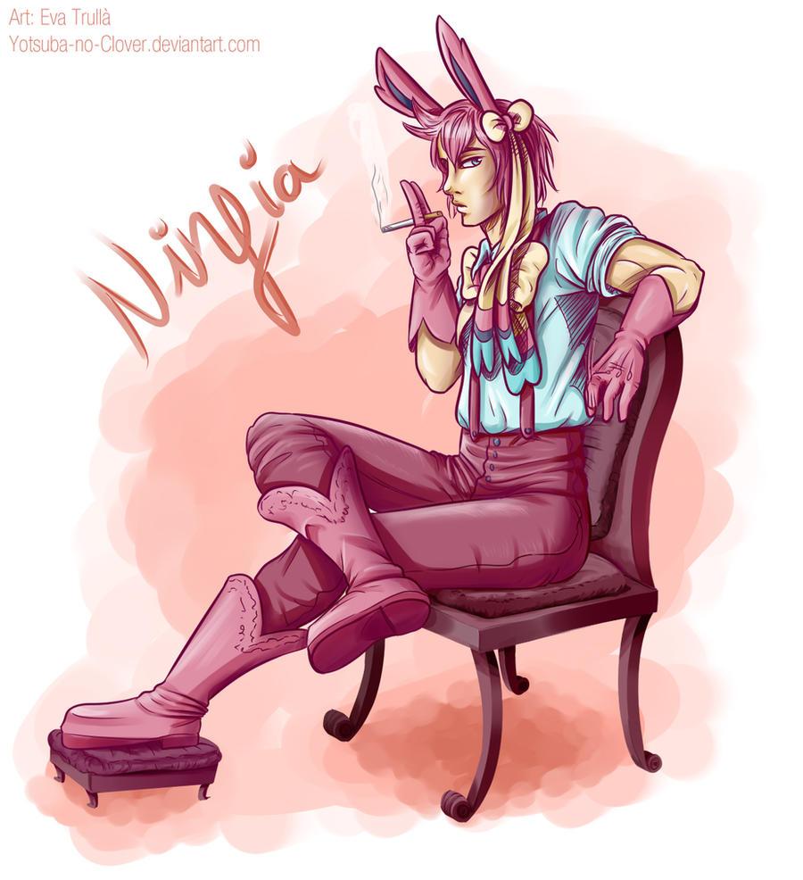 My Ninfia gijinka is MALE by Yotsuba-no-Clover