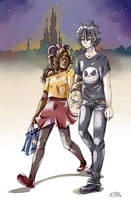DisneyLand AU - Nico and Hazel [HoO] by Yotsuba-no-Clover