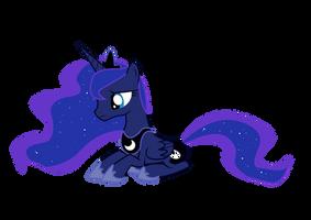 Princess Luna, Sad by NebulonB100