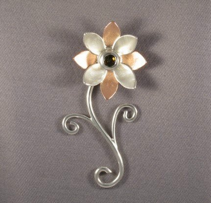 Flower Pin by GipsonDiamondJeweler