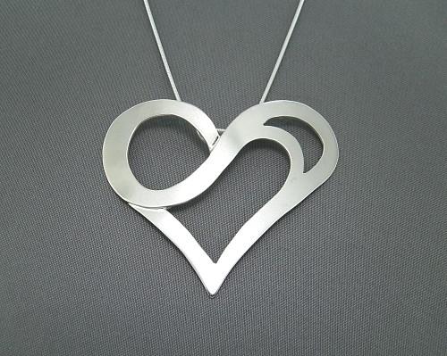 Silver Heart Pendant by GipsonDiamondJeweler