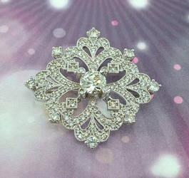 Diamond Encrusted Brooch by GipsonDiamondJeweler