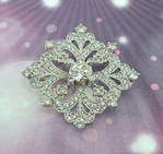 Diamond Encrusted Brooch