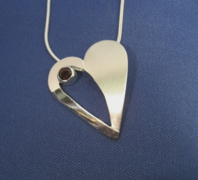 Polish and Satin Heart Pendant by GipsonDiamondJeweler