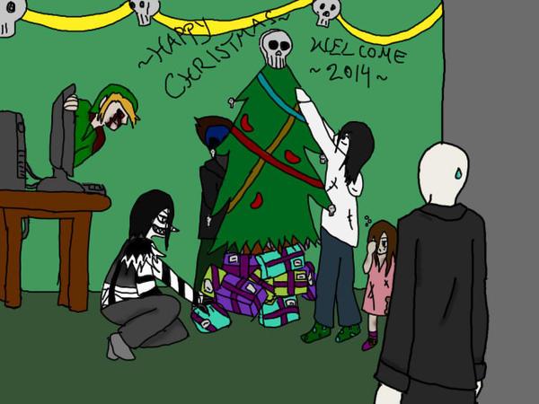 Creepypasta Christmas by KuroAkaiHebi on DeviantArt