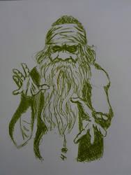 sketch - tribal sorcerer