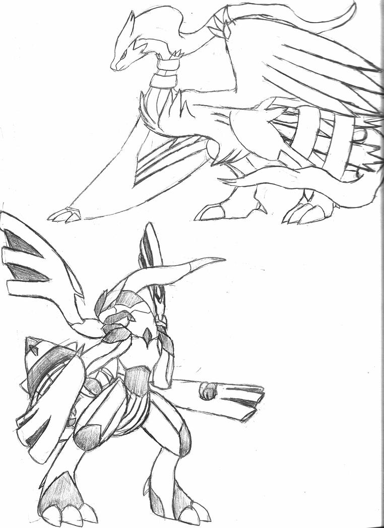 zekrom ex coloring pages | Reshiram and Zekrom by ShadowsoftheARK on DeviantArt