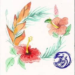 Hibiscus et Heliconia by Weena88