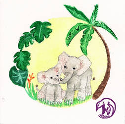 amour maternelle - elephanteau by Weena88