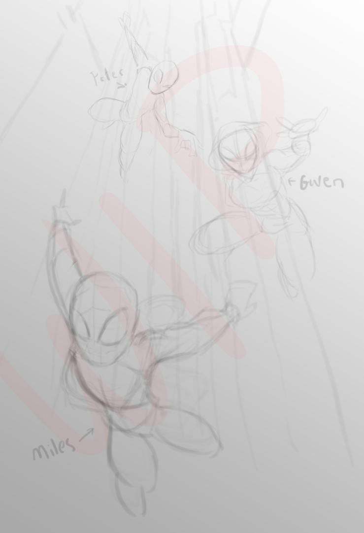 into the spider-verse wip by ChoralSeashelle
