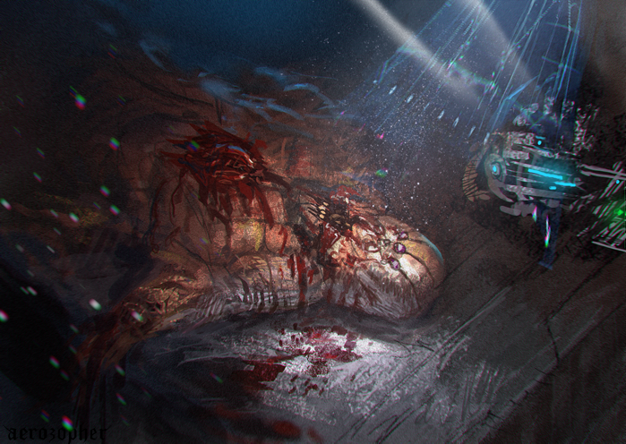 Monster Dissection -Spitpainting