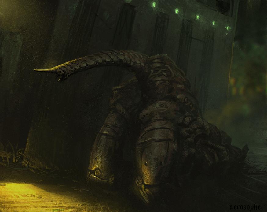 Dungeon Crawler -Spitpainting