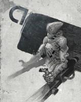 Cyberpunk Artrage Doodle by Aerozopher