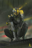 Cyberpunk Girl by Aerozopher