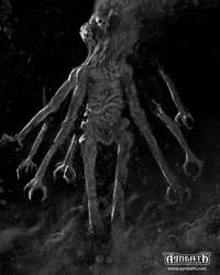 Aynbath - Demon Giant of Fear by Aerozopher