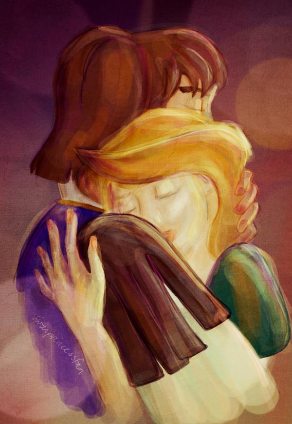 Derek and Odette portrait by swanprincessfan