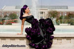 Black and Purple Rose Gown