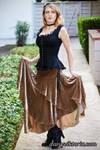 Velvet Skirt and Camisole