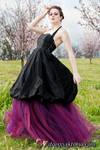 Black Silk Bubble Gown