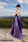 Purple Flowing Gown