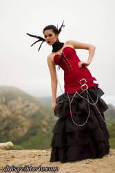 Silk and Organza Chains Gown by DaisyViktoria