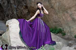 Purple Chiffon Princess Gown with Chains