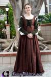Italian Renaissance Gown in Silk and Velvet by DaisyViktoria