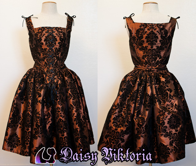 Taffeta Damask Dress by DaisyViktoria