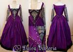 Purple Venetian Gown