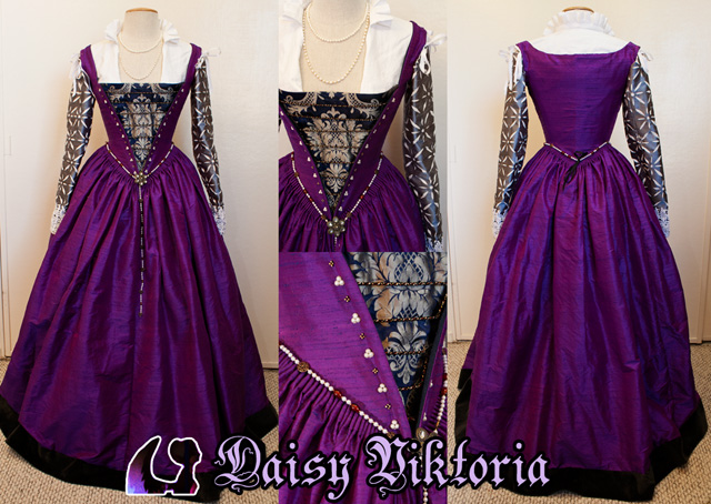 Purple Venetian Gown by DaisyViktoria
