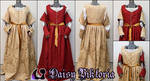 Red and Gold Italian Renaissance Gown