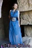 Blue Goddess Gown by DaisyViktoria