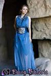 Blue Goddess Gown