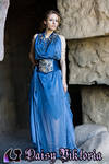 Blue Goddess Gown