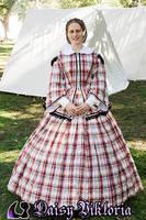 Plaid Civil War Dress by DaisyViktoria