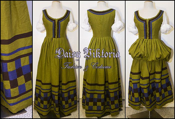 German Checkered Gown by DaisyViktoria