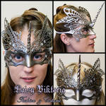 Silver Venetian Filigree Unicorn Mask