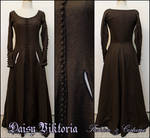 Brown Wool Cotehardie / Gothic Fitted Gown