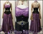 Purple Chiffon and Lace Elf Princess Gown
